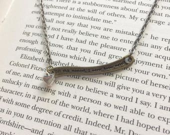 Miss Lizzy - Pride and Prejudice Quote Necklace