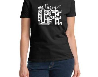 Farm Life Shirt - Farmer Shirt - Chicken Lady Shirt - Crazy Chicken Lady - Homesteader Shirt - Chicken Lover - Backyard Farmer Gift