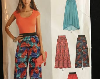New Look S0808 - Easy to Sew Stretch Knit Skirt, Pants, and Shorts - Size 8 10 12 14 16 18 20