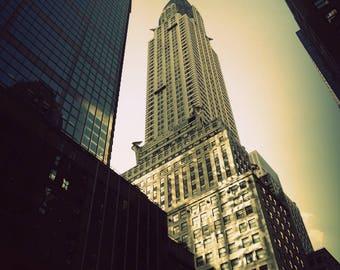 Chrysler building / New-York / Vintage style photography /  Photographie d'art numérique, finition mate