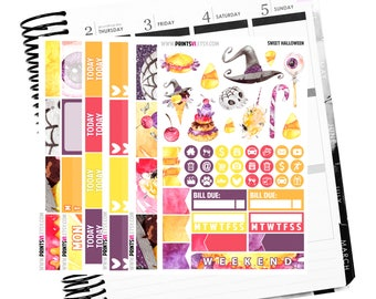 Sweet Halloween full kit, Planner Stickers