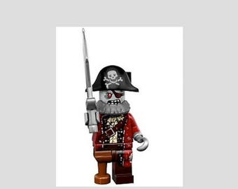 Lego Wacky Monsters Pirate  Minifig Magnet or Push Pin/Thumb Tack Your Choice