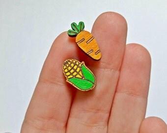 Vegan Gift, Vegan Jewelry, Food Earrings, Gift for Vegan, Vegan Earrings, Gift for Foodie, Vegetables, Gift for Vegetarians, Food Jewelry
