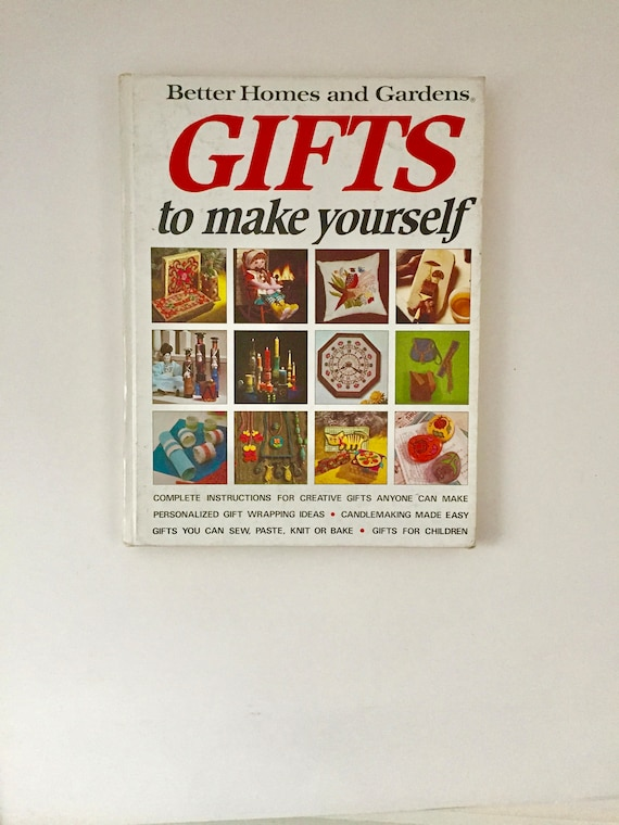 Better homes and gardens gifts to make yourself vintage craft better homes and gardens gifts to make yourself vintage craft project book guide diy sew paste knit bake candle from madmamavintage on etsy studio solutioingenieria Gallery