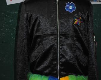 Peacock bomber jacket