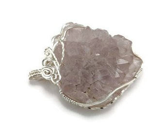 Raw Crystal jewelry, silver amethyst jewelry, silver amethyst pendant, silver amethyst necklace,