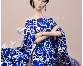 PORCELAINE  - Jumpsuit  for 16'' Fashion Doll ( Numina, Kingdom Doll, Modsdoll, FR16, JamieShow, RDGs... )