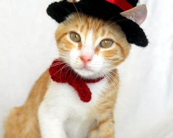 Top Hat for Cats, Cat Wedding Apparel, Cat Formal Wear, Feline Accessories, Cat Hat for Cats, Kitten Costume, Cat Hat Pet, Cat Owner Gifts