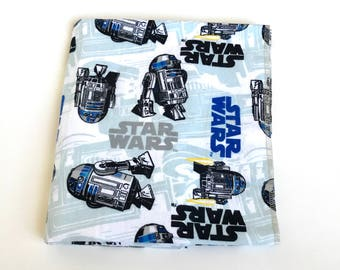 Star Wars Flannel Receiving Blanket, Star Wars Swaddling blanket, New mom essentials, Star Wars nursery baby gift.