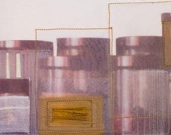 Fibre art/textile art/mixed media - Jars-Free shipping to Canada and USA!