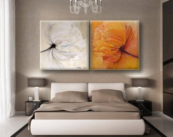 Flower Oil Painting, Large Wall Art, Extra Large Wall Art, Large Canvas Art, Large Painting, Flower Canvas Art, Floral Canvas Art