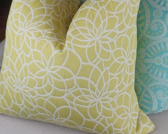 Citrine and White Decorative Pillow Cover, Citrine Throw Pillow, White Cushion Cover, Housewares Decor, Pillow decor 0095