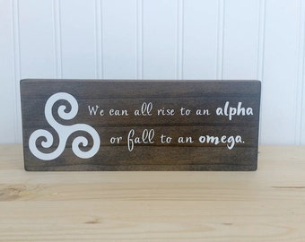 Teen Wolf Triskele Wood Sign