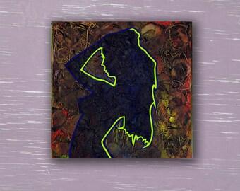 """Delirium"" Erotic Painting [Acrylic on Canvas, 12x12in, 2016]"