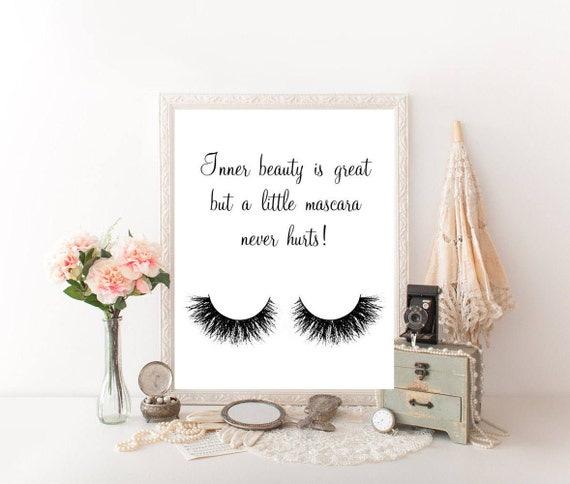 Makeup Quotes Makeup Wall Decor Makeup Decor Makeup Canvas