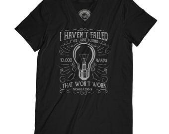 T-shirt with saying motivation shirt men's v neck shirt light t-shirt bulb t-shirt quote shirt graphic t-shirt funny t-shirt  APV56