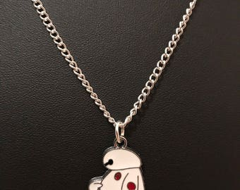 Silver Plated Disney Big Hero 6 Baymax Necklace (Des.2)
