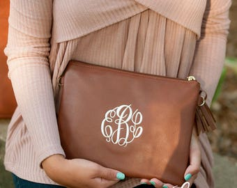 Monogrammed Camel Kendall Crossbody Purse - Personalized Camel Kendall Crossbody - Camel Purse - Personalized Handbag - Monogrammed Purse
