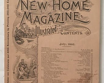 Arthur's New Home Magazine Illustrated July 1892 - Cool Vintage Ads and Stories