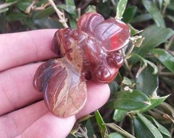 Red Jasper Fluffy Dragonfly ~ Hand Carved ~ Cute ~ Nice Features ~ Animal Totem ~ Protection ~ Prosperity ~ Altar ~ Wiccan