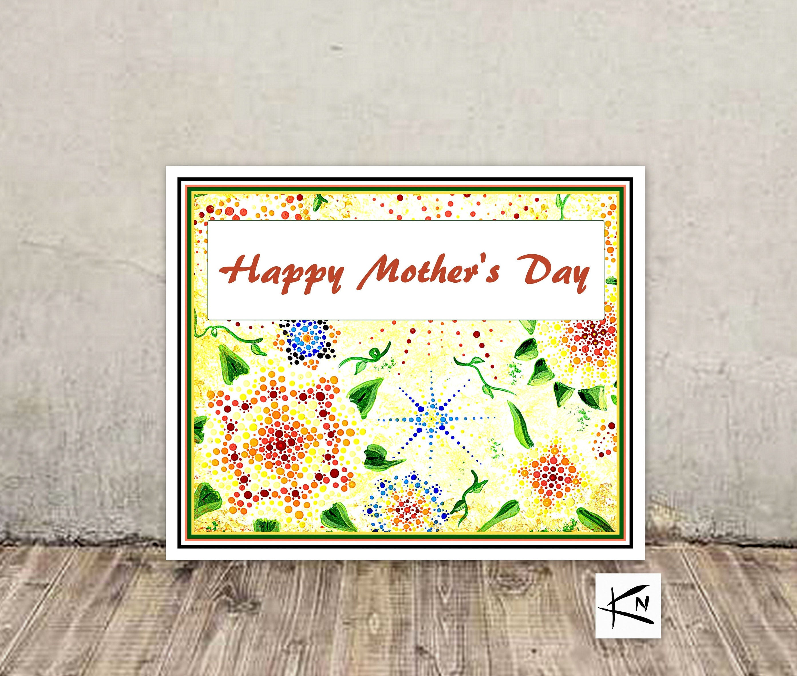 Mothers Day Card Blank Greeting Cards Handmade Mandala Cards
