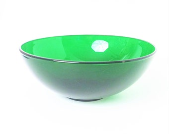 Forest Green glass Bowl, 10 1/2 inch bowl, Anchor Hocking