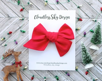 red bow, hair bows, christmas bows, oversize bow, baby hair bow, hair bow for girls, toddler hair bow, bows for girls, holiday bow
