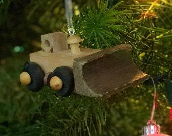 Wooden Toy Bulldozer Ornament