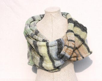 Shoulder warmer / Knit Infinity scarf / Oversized knit shawl / Handmade mohair shawl / chunky knit wrap - First Frost 3