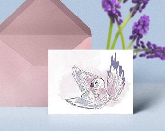 """Postcard """"parrot"""""""