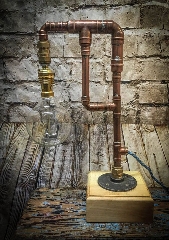 Industrial Copper Pipe Lamp