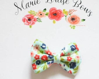Charlee Floral Cotton Bow