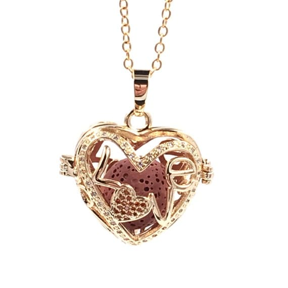 Essential Oil diffuser Necklace, rosey gold heart, diffuser locket, Girl Friend Gift, essential oil locket,stocking stuffer