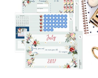 July Monthly Kit || for Erin Condren Life Planner || Planner Stickers