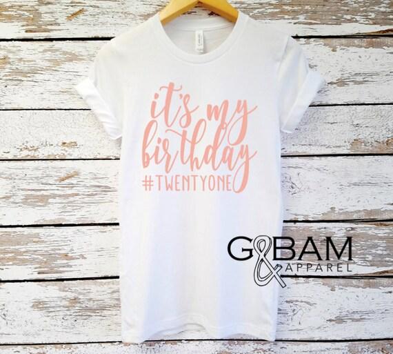 ANY AGE! Custom Birthday Shirt or Tank // Ladies Birthday shirt // Any age // Customizable Birthday //