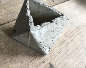 "The ""Cusp"" Octahedron Concrete Succulent Planter- to grow awareness to Friedreichs Ataxia :  NON-PROFIT"