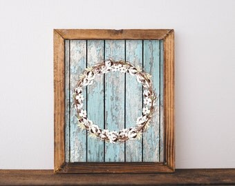 French Country, Printable, cotton wreath, home decor, wall art, wall decor, french farmhouse, french country decor wood wall art, printables