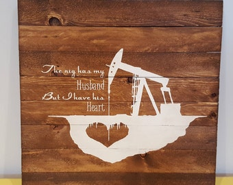 Rustic Wooden Art Sign