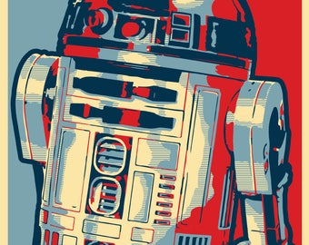 """R2D2 2020 """"HOPE"""" Style Election Posters - 11x17 inches - STAR WARS"""