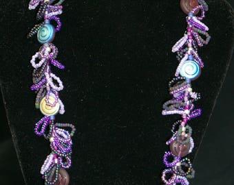Purple ammonites