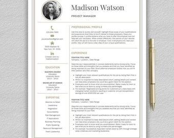 Modern Resume Template | Professional Resume Template Word | CV Template | Creative Resume Template | Modern CV Templates