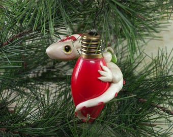 Dragon Ornament, Christmas Dragon, Christmas Dragon Ornament, Dragon Christmas Ornament, Candy Cane Dragon, Fantasy Ornament, Dragon Figure