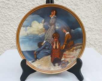 Collectable Plate by Knowles, USA - Norman Rockwell's 'Waiting on the Shore'