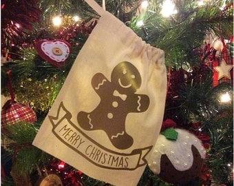 Gingerbread Man Mini Sack