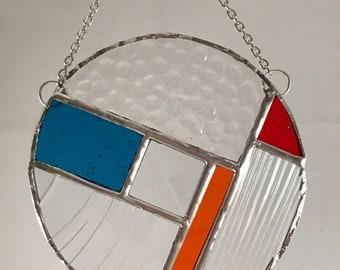 Round Suncatcher - Blue/Orange/Red/Clear