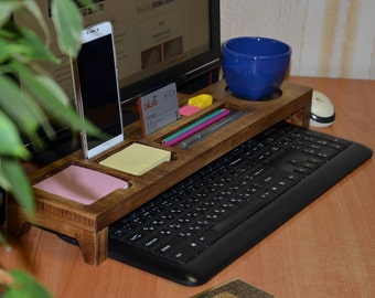Wood Desk Organizer Etsy