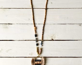 Boho charm necklace