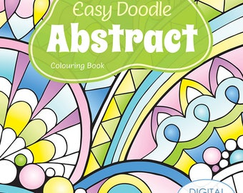 Easy Doodle Abstract Printable Colouring Book