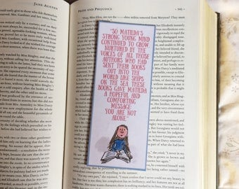 Matilda Roald Dahl Quote Bookmark