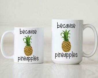 pineapple mug pineapple gift for TTC gift pineapple accessory pineapple decor pineapple lover pineapple addict cute pineapple office decor